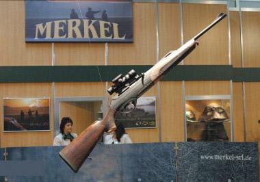 Самозарядный карабин Merkel SR1 с газоотводным механизмом перезаряжания