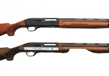 Самозарядные ружья Benelli Super 90 (вверху) и Benelli Super 90 Montefeltro (внизу)