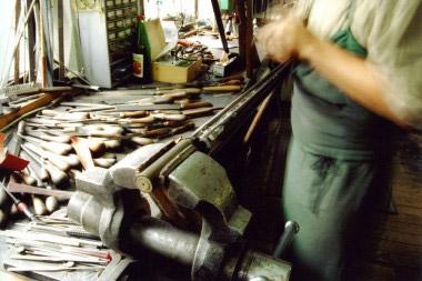 Обработка блока стволов