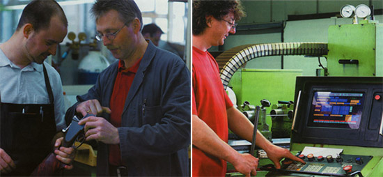 Ручная работа и современная техника: как любое успешное, типичное металлообрабатывающее предприятие средней величины фирма Heym тоже основывается на объединении культуры ручной обработки и технологий, связанных со станками с ЧПУ. Отказаться от современныхобрабатывающих центров так же невозможно, как и от умелых сотрудников.