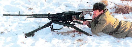 12.7-мм пулемет НСВ на станке Степанова-Барышева 6Т7