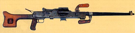7,62-мм единый пулемет Гаранина 2Б-П-10 на сошке. Ротный вариант. Опытный образец 1955 г.