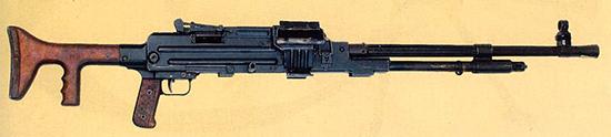 7,62-мм единый пулемет Гаранина 2Б-П-45 на сошке. Ротный вариант. Опытный образец 1958 г.