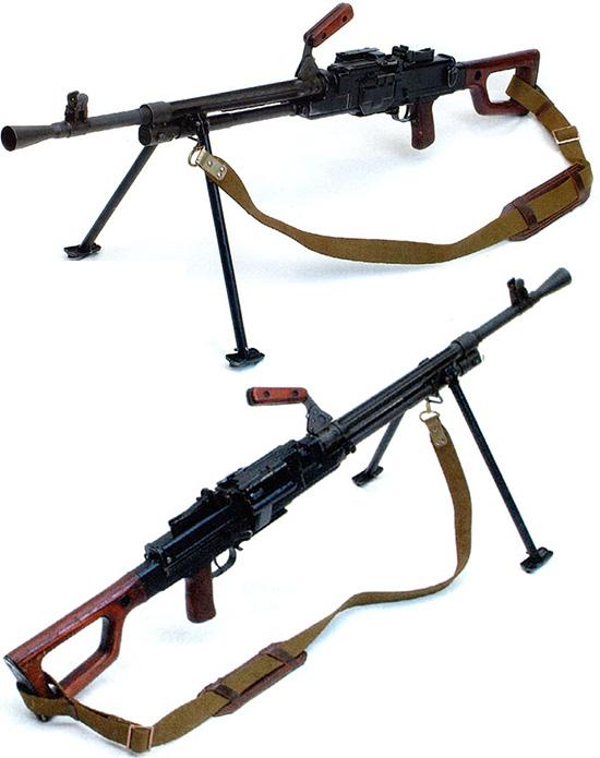 7,62-мм единый пулемет Никитина-Соколова на сошке. Ротный вариант. Опытный образец 1958 г.