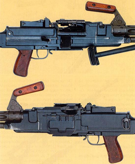Органы управления, приемник, прицел единого пулемета Никитина-Соколова. Опытный образец 1958 г.