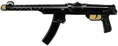 7,62-мм пистолет-пулемет Судаева обр. 1943 г. (ППС-43) со сложенным прикладом