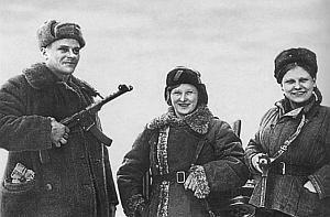 7,62-мм пистолет-пулемет Судаева обр. 1943 г. (ППС-43) на вооружении белорусских партизан. 1944 г.