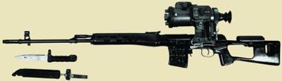 Снайперская винтовка СВД с ночным оптическим прицелом 1ПН51