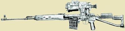 Снайперская винтовка СВД-С с ночным оптическим прицелом 1ПН51