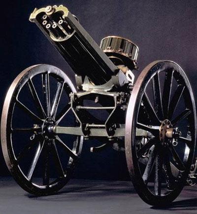 Пулемет Гатлинга с вращающимися шестью (позднее – десятью) стволами прослужил американской армии с 1862 до 1911 года