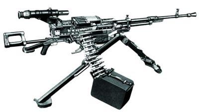 12,7-мм крупнокалиберный пулемет НСВС «Утес» на станке-треноге 6Т7 с оптическим прицелом СПП