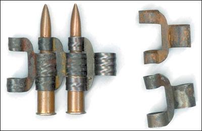 Известны две разновидности рассыпных металлических лент к пулемёту ШКАС: с рёбрами жёсткости и без них