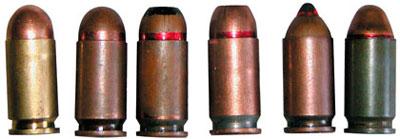 9 х18 пистолетные патроны ПМ (слева - направо): 9-мм пистолетный патрон (индекс 57-Н-181) с латунной гильзой и с пулей со свинцовым сердечником; 9-мм пистолетный патрон (индекс 57-Н-181 С) со стальной гильзой и с пулей со стальным сердечником; 9-мм пистолетный патрон с экспансивной пулей с повышенным останавливающим действием СП-7; 9-мм пистолетный патрон с экспансивной пулей с пониженным пробивным действием СП. 8; 9-мм пистолетный патрон (индекс 7 Н25) с бронебойной пулей ПБМ; 9-мм пистолетный патрон для правоохранительных органов ППО с утяжеленной пулей со свинцовым сердечником