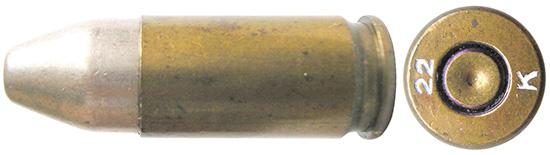 Один из патронов 9х19 Parabellum, изготовленных английской фирмой Kynoch  в 1920-1923гг. по заказу правительства Нидерландов. Патроны  предназначались для поставки с 6000 пистолетов М11 Luger, изготовленных  для Нидерландов фирмой Vickers Ltd (так называемые «Vickers Ltd Luger»).  В рамках этого контракта бельгийская фирма FN также поставляла в  Нидерланды боеприпасы 9х19 с маркировкой FN 22