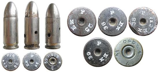 Учебные немецкие патроны 9х19— Exerzierpatrone 08