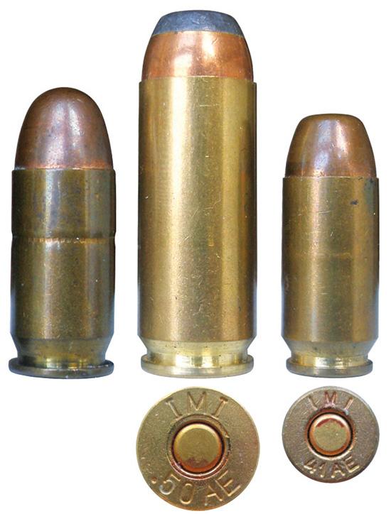 Патроны Action Express израильской компании IMI к пистолетам Desert Eagle в сравнении с классическим .45АСР