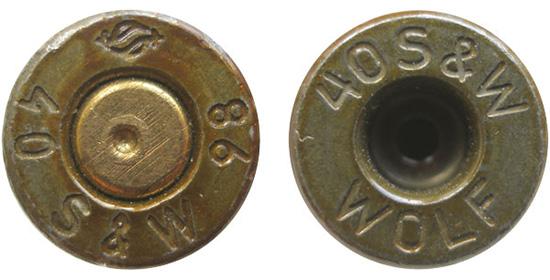 Клейма ранних российских .40 S&W в стальных лакированных гильзах