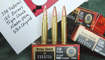 Заводские патроны Federal с пулями Barnes Triple Shock дали на винтовке Kimber 84M лучшую группу.