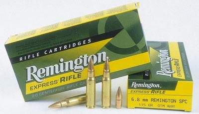 Пуля: из четырёх заводских снаряжений возник вариант с пулей Open-Tip-Match (OTM) массой 115 гран/7,45 г.