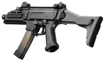 9-мм пистолет-пулемет CZ Scorpion EVO 3A1 (вид слева)