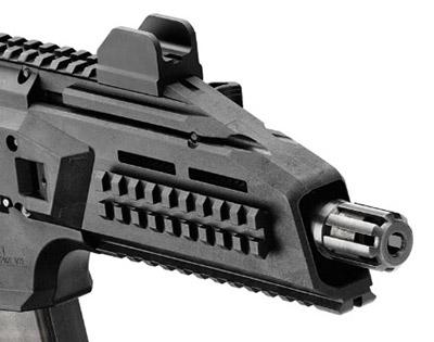В случае необходимости пламягаситель может быть  свинчен сдульной части ствола изаменен надульным устройством для  бесшумной ибеспламенной стрельбы