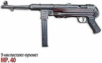 9-мм немецкий пистолет-пулемет MP.40