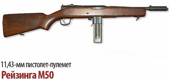 11,43-мм пистолет-пулемет Рейзинга (Reisinga) M50