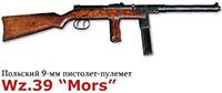 Польский 9-мм пистолет-пулемет Wz.39 «Mors»