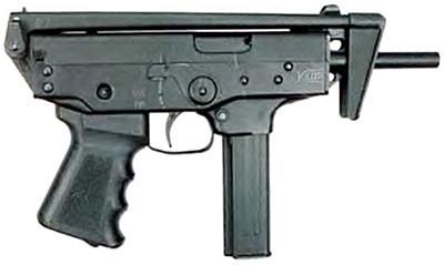 Пистолет-пулемет ПП-91 «Кедр» со сложенным прикладом. Вид справа