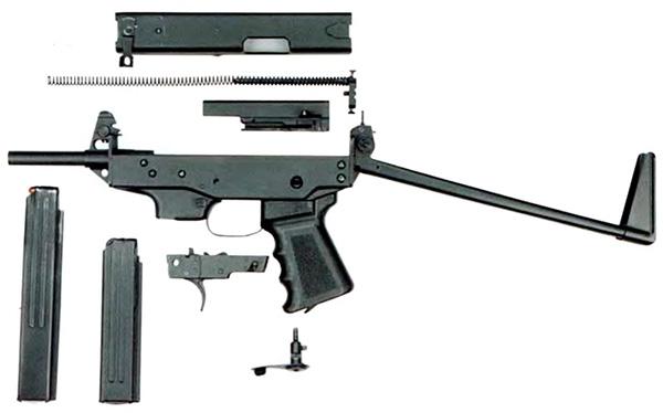 Неполная разборка ПП-9 «Клин» и магазины на 20 и 30 патронов