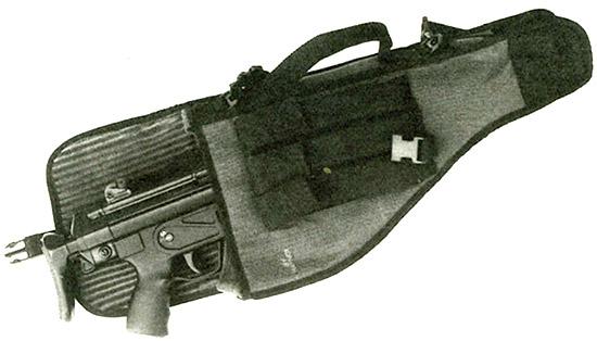Производящийся в США мягкий чехол для автомата МР5 из баллистического  нейлона с подкладкой из рубчатого хлопчатобумажного фетра. Разработан на  основе чехла немецкого производства, предназначавшегося для личного состава одного из спецподразделений по борьбе с терроризмом