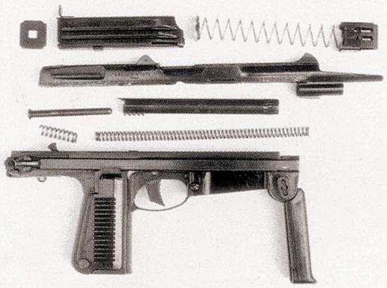 Польский Wz63, неполная разборка