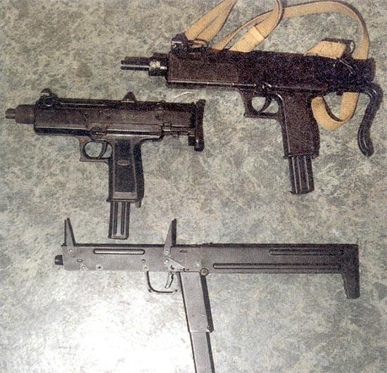 Современные ПП, стреляющие с заднего шептала (сверху вниз): АЕК-919, АЕК-919К, ПП-90