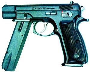 9-мм автоматический пистолет CZ-75FA (Чехословакия)