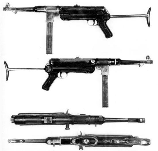 МР-38 с экспериментальным предохранителем на правой стороне