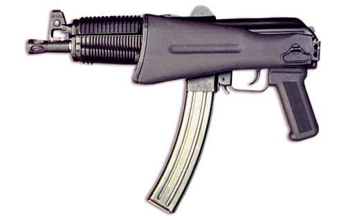 Пистолет-пулемет «Бизон-2» под патрон 7,62х25 ТТ. Приклад сложен. Вид слева