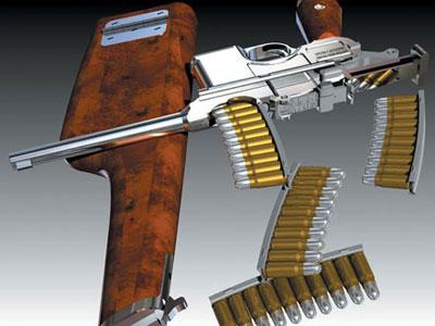 7,63-мм пистолет Маузер К-96 Модель 1912 с деревянной кобурой-прикладом и десятизарядными обоймами с пистолетными патронами