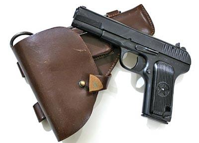 7,62-мм пистолет Токарева ТТ образца 1933 г. с кобурой