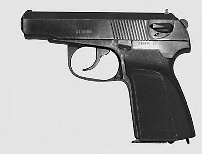 9 мм пистолет Макарова-Плецкого-Шигапова «Грач-3» ПММ-12