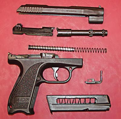 Неполная разборка пистолета Грязева-Шипунова ГШ-18