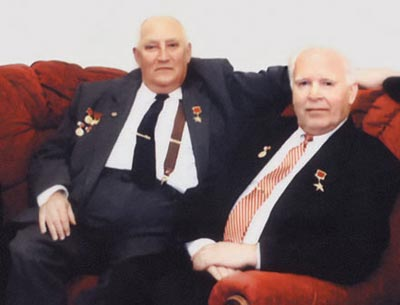 Создатели пистолета ГШ-18 - А.Г. Шипунов (слева); В. П. Грязев (справа)