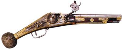 Пистолет с колесцовым замком. Германия. 1580 год