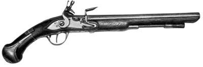 Пистолет с ударно-кремневым замком. Россия. Конец XVII века