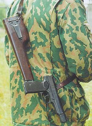 Все знают, как выглядит АПС, но мало кто видел, как он носится на ремне с присоединённой кобурой–прикладом