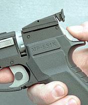 Стрельбу из МР-651К можно вести как самовзводом, так и с предварительным взведением курка