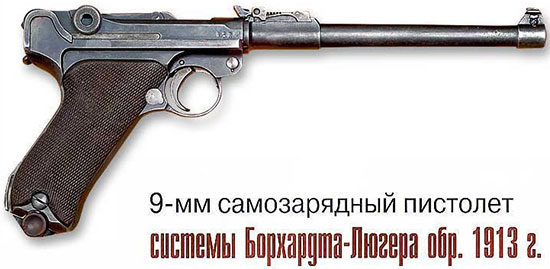 9-мм пистолет системы Борхардта-Люгера обр. 1913 г