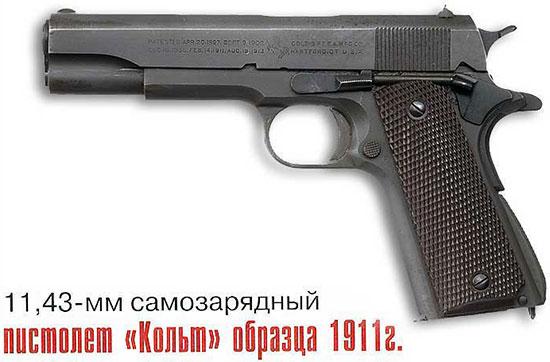 11,43-мм самозарядный пистолет Кольт обр. 1911 г