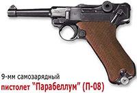 9-мм самозарядный пистолет Парабеллум (П-08)