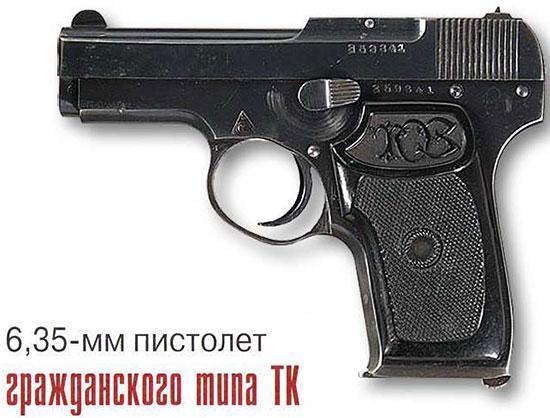 6,35-мм пистолет гражданского типа ТК