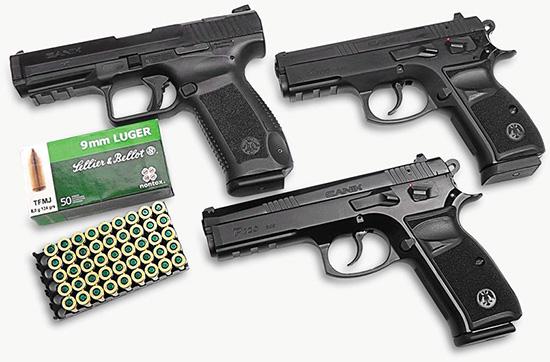 Пистолеты Canik TP9 SA, Canik P100 и Canik P120 под патрон 9х19